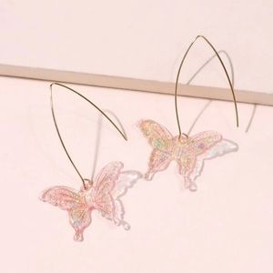 🦋 Beautiful butterfly sparkle drop earrings 🦋